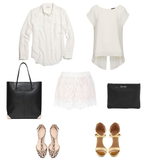How She'd Wear It - Lace shorts and monochromatic