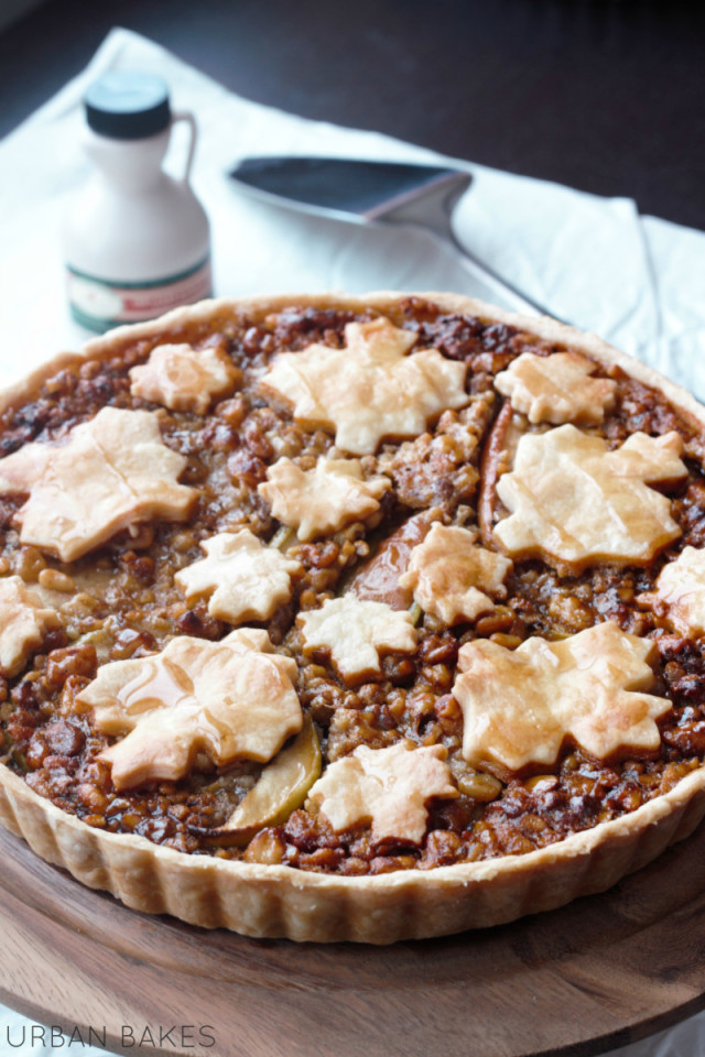 Rustic Maple Apple Walnut Tart | Urban Bakes | Thanksgiving Pie ...