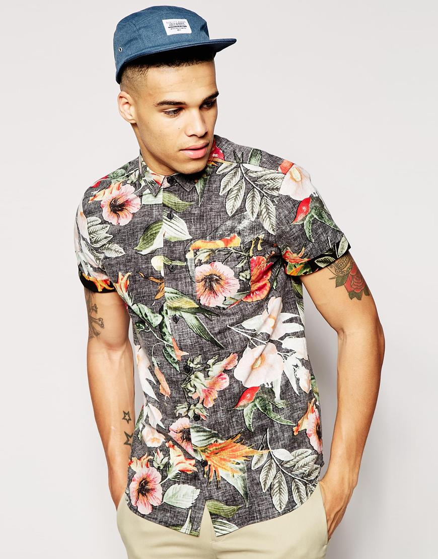 Step up your style game with these short sleeve shirts for Mens short sleeve floral shirt