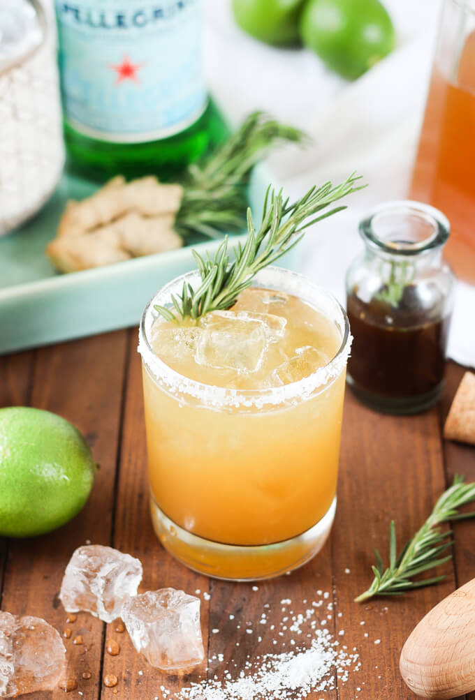 Rosemary Ginger Margaritas | Wicked Spatula - 8 Refreshing Fall ...